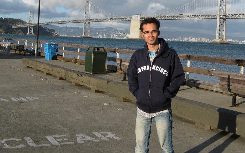 Omid Kokabee en una visita a San Francisco