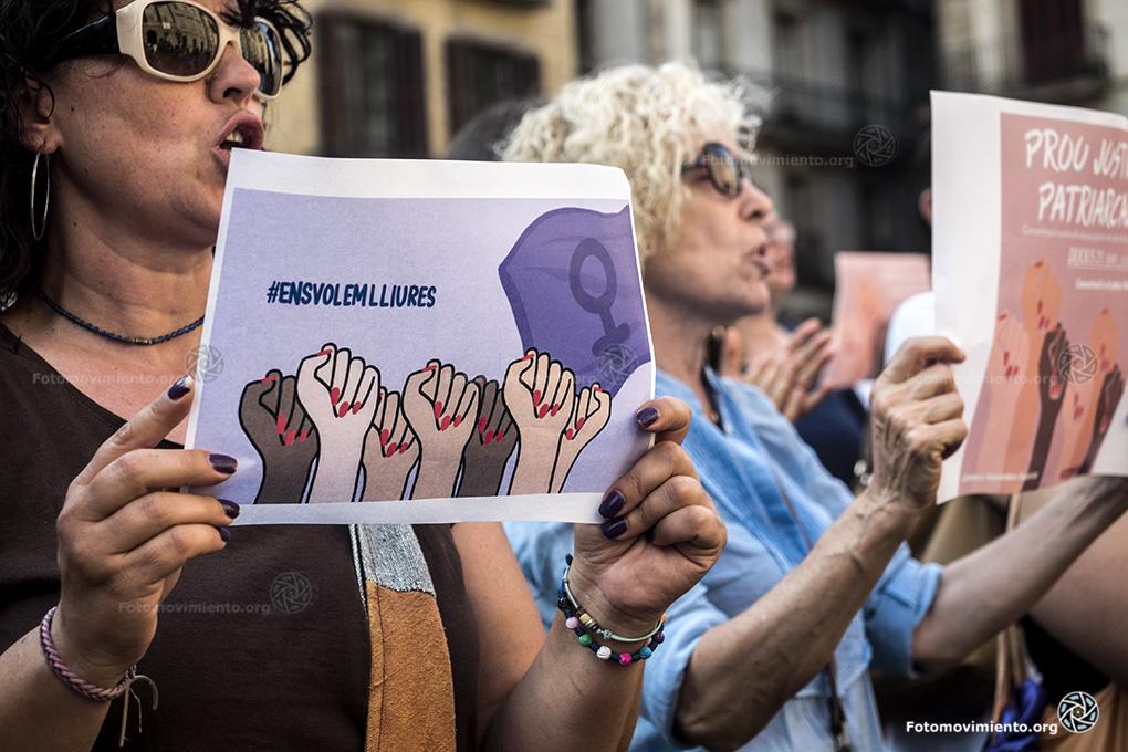 Manifestación contra la violencia sexual