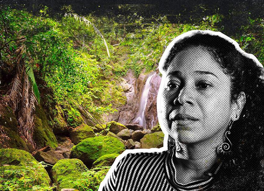 Danelly Estupiñan, defensora del medioambiente colombiana