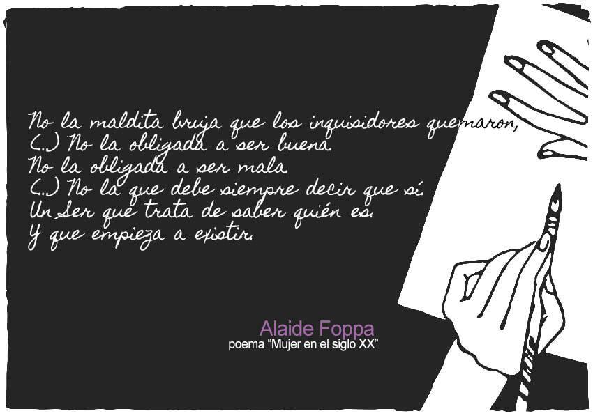 Extracto del poema Mujer en el siglo XX de Alaíde Foppa