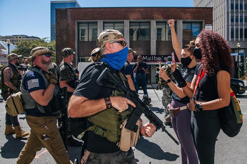 manifestación contra la violencia policial en Estados Unidos