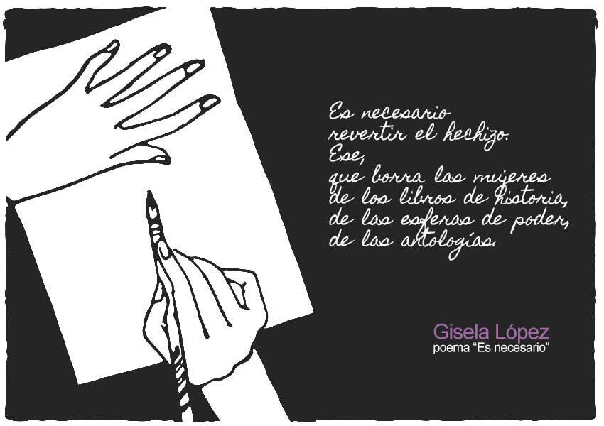 """Extracto del poema """"Es necesario"""" de Gisela López"""