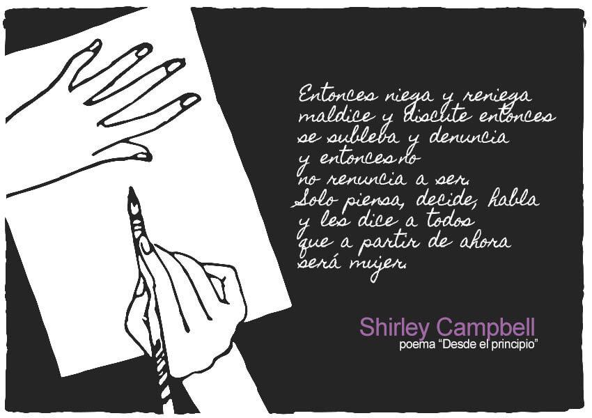 Extracto del poema Desde el principio de Shirley Campbell